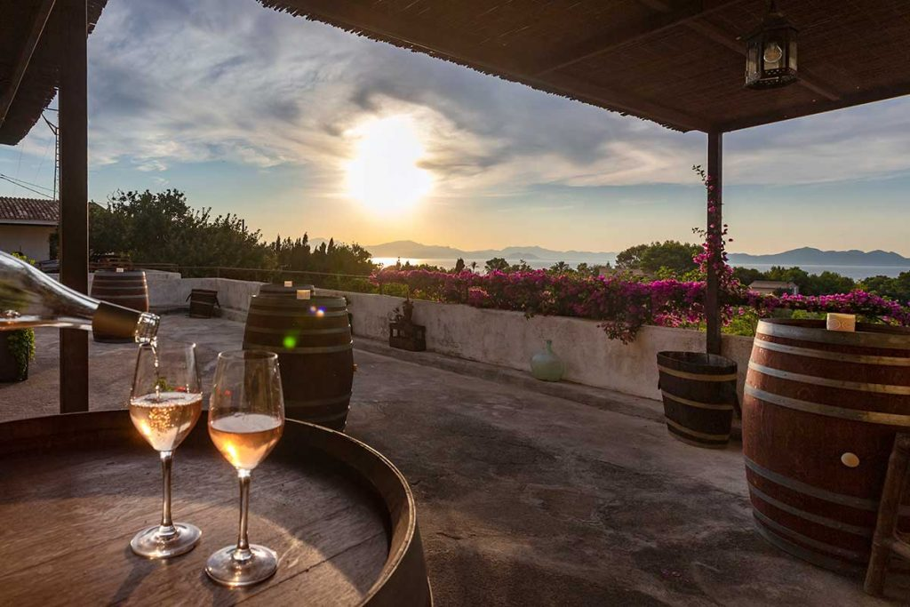 Amazing-sunset-on-a-winery-in-the-north-of-Mallorca