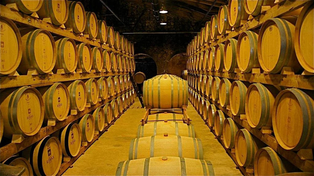 Barrel-cellar-of-the-oldest-winery-on-Mallorca